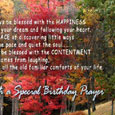 Just to you with a special Birthday prayer