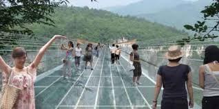 A Bridge Of Transparant Glass
