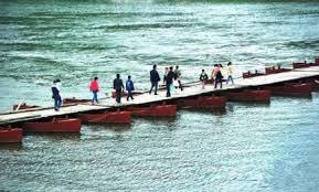 Unique Bridge Made Of Boats