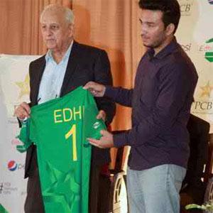 Edhi Foundation Logo On The Pakistani Team Shirt