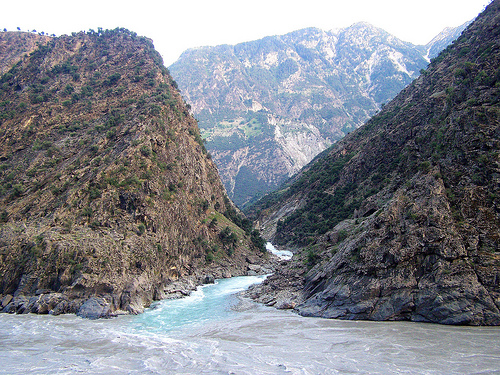 Indus river in district kohistan