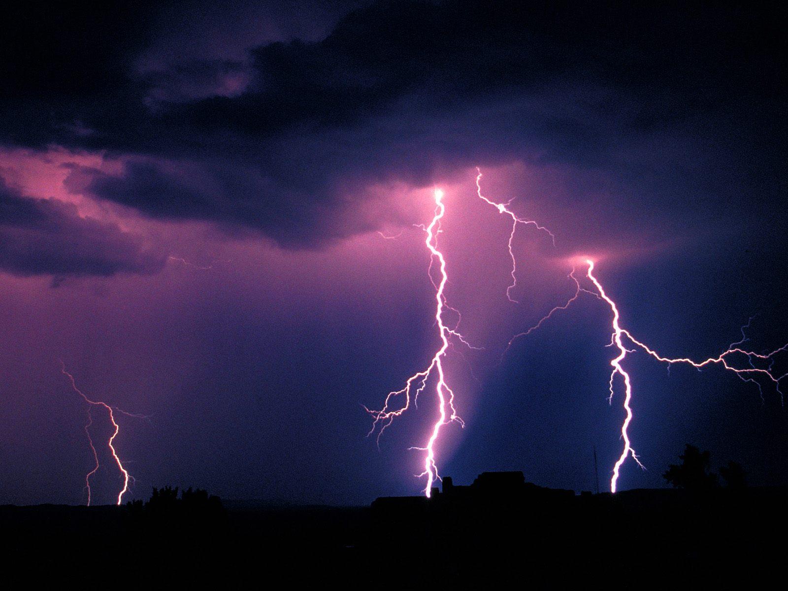 Lightning storm near the petrified forest national park arizona